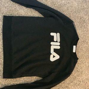 Black and White Fila Sweatshirt